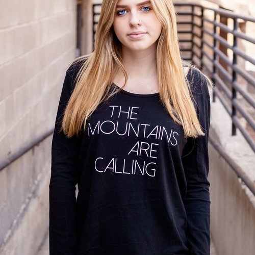 California 89 Mountains Are Calling Long Sleeve Women's Tee