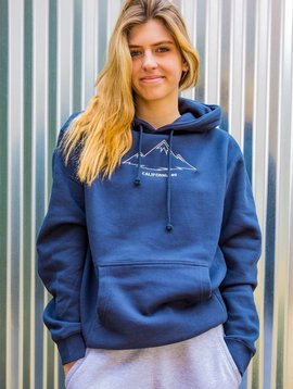 California 89 Unisex Hooded Sweatshirt with Mountains on front