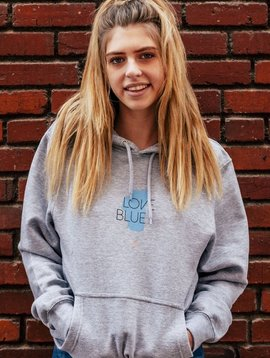 California 89 Unisex Love Blue Sweatshirt
