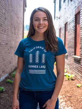 California 89 Donner Lake Women's  Tee