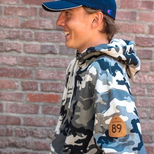 California 89 Unisex  Hoodie  with CA89 Leather Patch