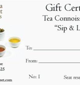 Service Gift Certificate<br /> Tea Connoisseur Class