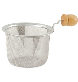 Tea products Stainless Steel Mesh Strainer with Wooden Handle 2.5""