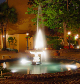Art Fountain at Night in Charleston SC Print by Palmetto & Pines Photography