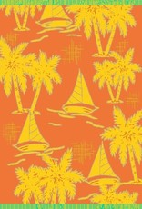 Gift Items Sailboat Palms- Sheared Jacquard Beach Towel