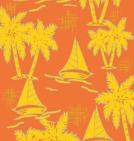 Gift Items Sailboat Palms- Sheared Jacquard Beach Towel