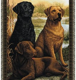 Gift Items Labs In The Field - Dogs Throw