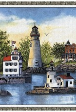 Gift Items Lighthouse  Collage Throw