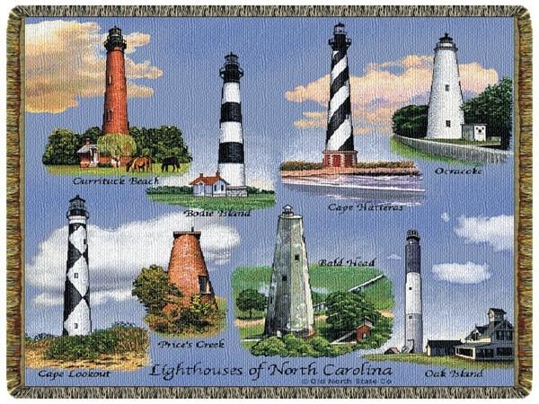 Gift Items NC Lighthouses Throw