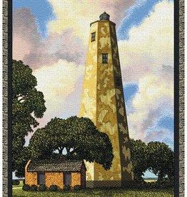 Gift Items Baldhead Island Lighthouse Throw