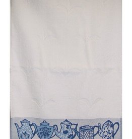 Gift Items Tea Towel with Teapot Border Design