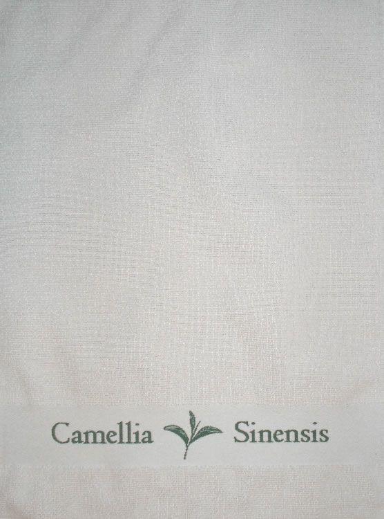 Gift Items Tea Towel with Camellia Sinensis Border Design