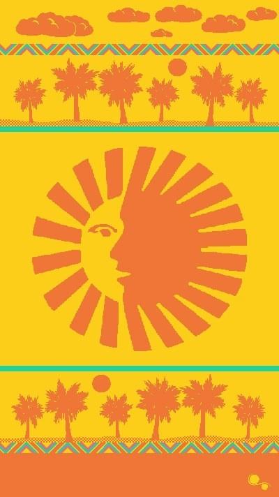 Gift Items Sun Sign - Sheared Jacquard Beach Towel