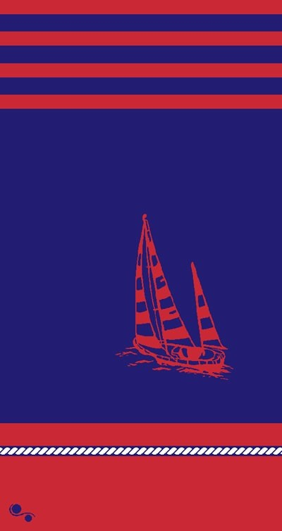 Gift Items Admiral's Cup - Sailboat Sheared Jacquard Beach Towel