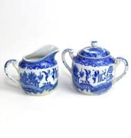Tea products Sugar Creamer Set Blue Willow