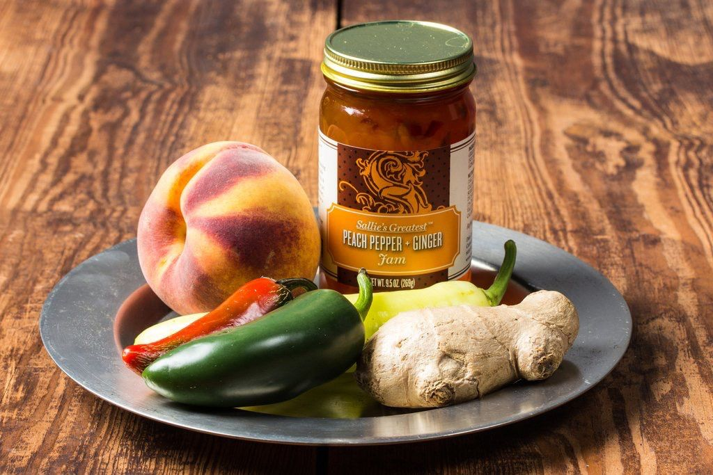 Tea products Peach Pepper and Ginger Jam