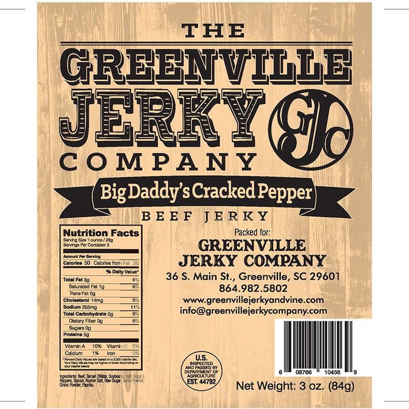 Food Beef Jerky Big Daddy's Cracked Pepper