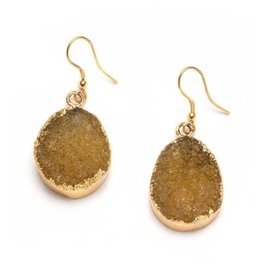 Matr Boomie Citrine Rishima Druzy Drop Earrings