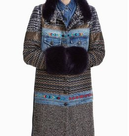 Desigual Sabrina Mixed Media Coat