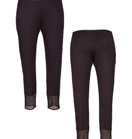 Comfy Long Mesh Contrast Leggings
