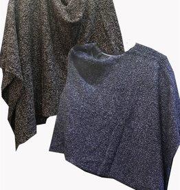 Van Klee Boucle Tweed Poncho