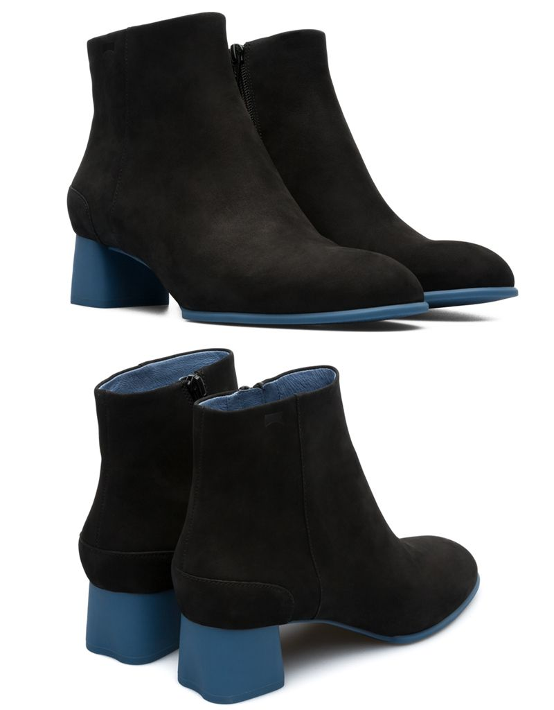 054eb57bb0dc7 Katie Women's Ankle Boots Nubuck - Rubber Blue Heel