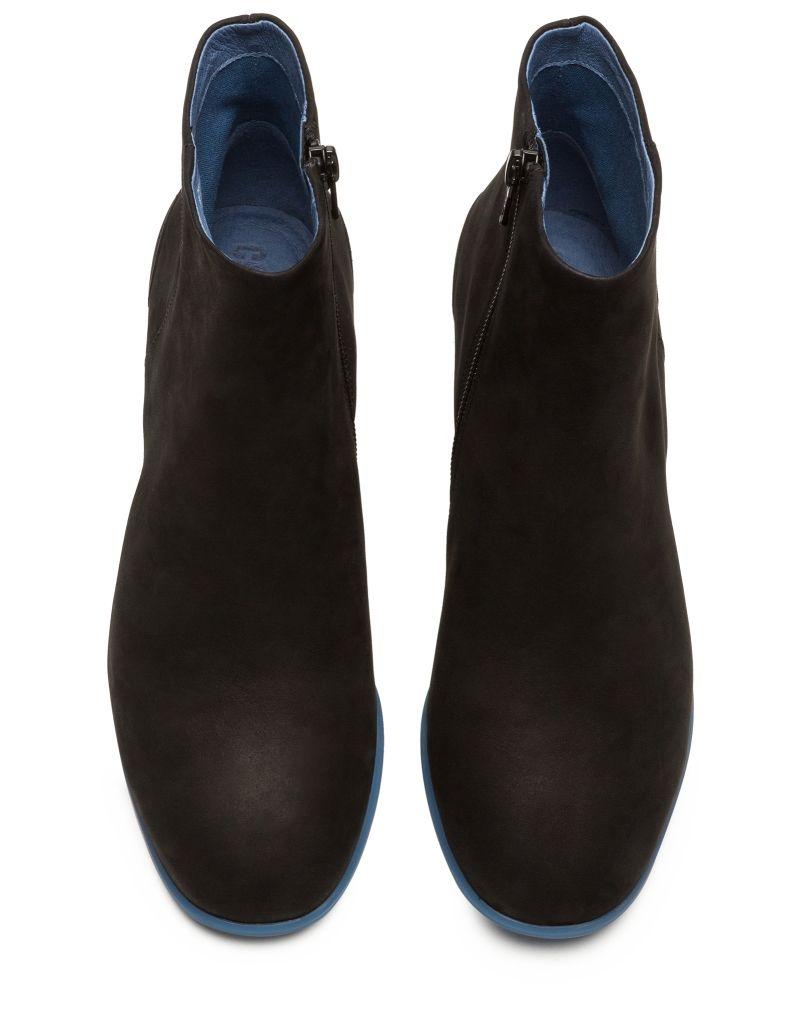 Camper Atlantic Katie Women's Ankle Boots  Nubuck - Rubber Blue Heel