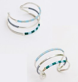 Mata Traders Silver Threaded Trio Cuff