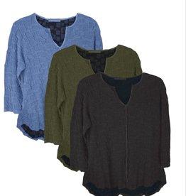 Cut Loose Split Neck Pullover Sweater