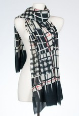 Banaris Abstract Window Print Merino/Silk Stole