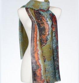 Banaris Tigris Estuary Print Merino/Silk Stole