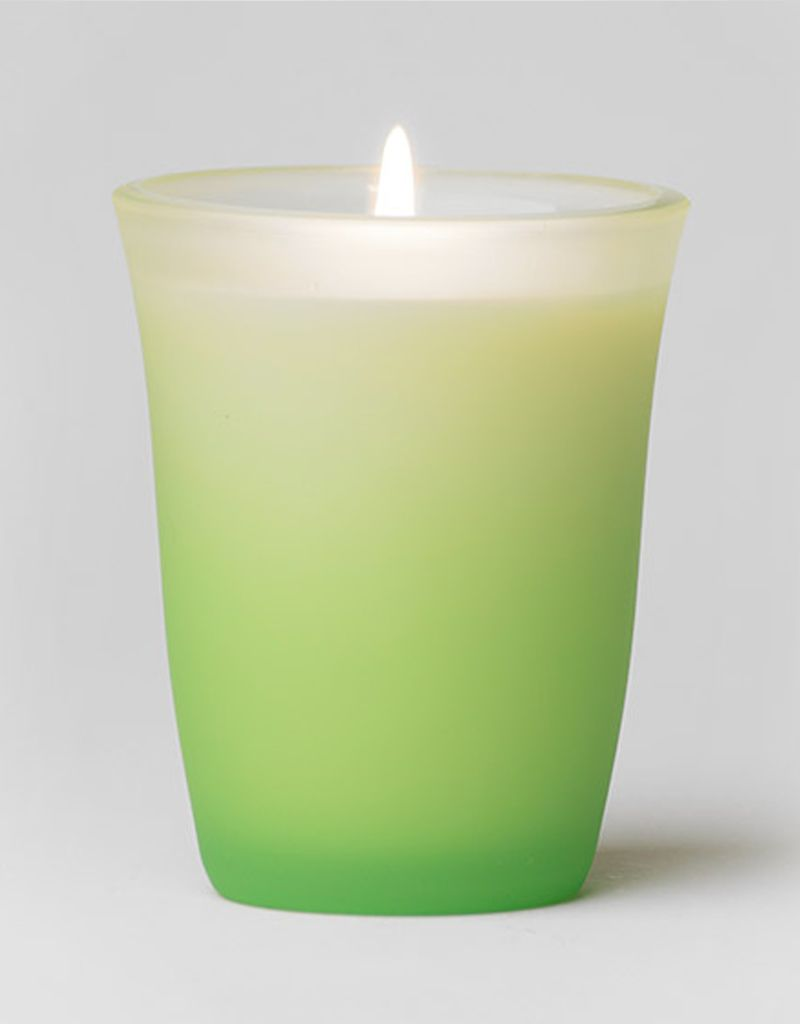 Rare Essence Uplifting Spa Colored Glass Candle
