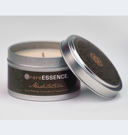 Rare Essence Meditation Spa Travel Tin Candle