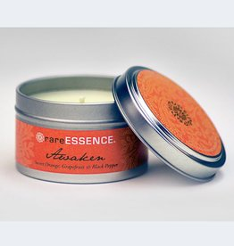Rare Essence Awaken Spa Travel Tin Candle