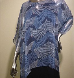 Cocoon House Pointed Long Top Silk