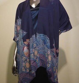 Cocoon House Silk Long Kimono-Fans Feathers