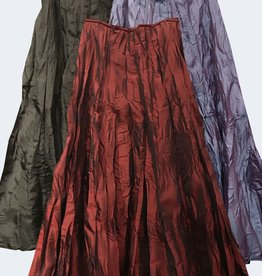 Van Klee Gored Taffeta Skirt