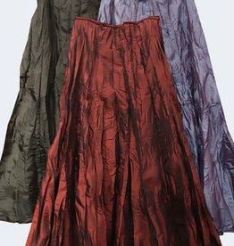 Van Klee Gored Taffeta Skirt