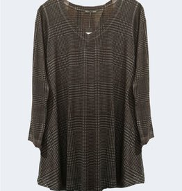 Nally & Millie Houndstooth Print Tunic