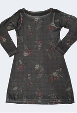 Nally & Millie Houndstooth Floral Print Dress