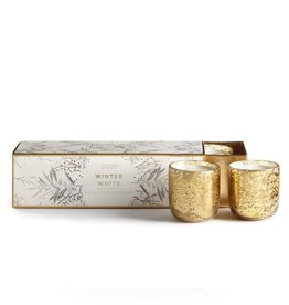 Illume Winter White Mini 3-Piece Mercury Candle Set