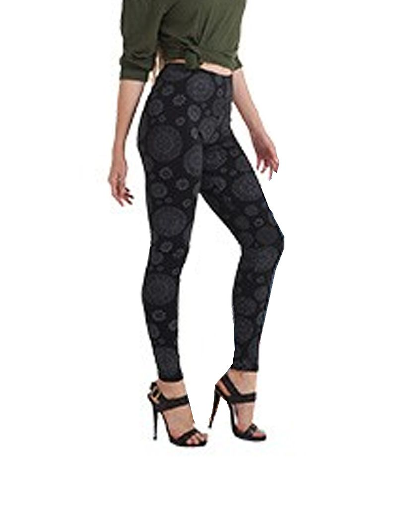 Kathmandu Imports Cotton Lycra Leggings Circle Pattern