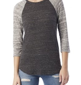 Alternative Apparel Eco Jersey Raglan Baseball Tee