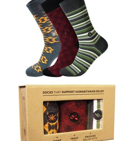 Conscious Step Men's Humanitarian Sock Collection - Set of 3