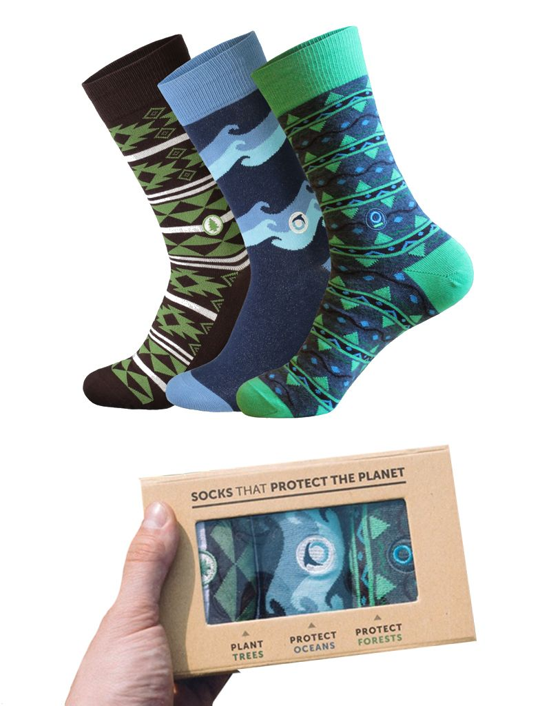 Conscious Step Men's Planet Sock Collection - Set of 3