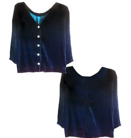 Cut Loose 3/4 Sleeve Reversible Velvet Top