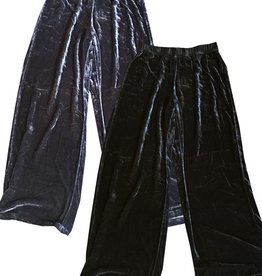 Cut Loose Long Wide Velvet Pant