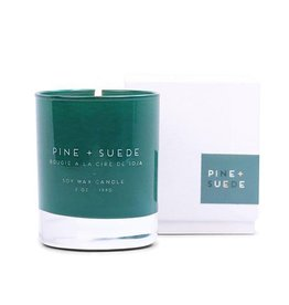 Paddywax Pine & Suede Statement Candle Green Jar Boxed