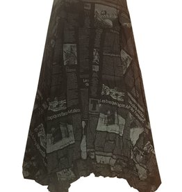 Comfy Lori Skirt Newsprint Black/Grey