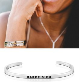 MantraBand Carpe Diem Mantra Band - Silver